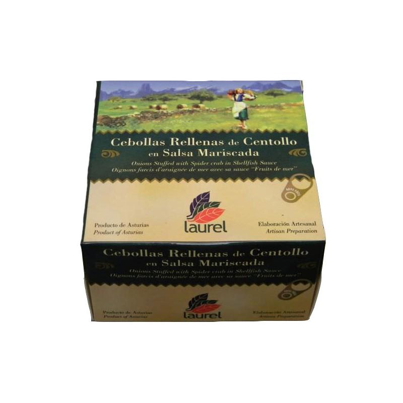 Cebollas Rellenas de Centollo en Salsa Mariscada Asturias