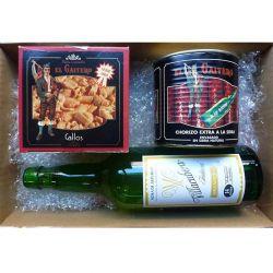 Cesta Productos Asturianos - Callos, Sidra, Chorizos - Cesta Navidad