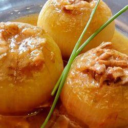 Cebollas Rellenas de Carne Laurel