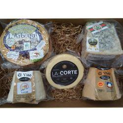 Cesta Gourmet quesos asturianos D.O.P.