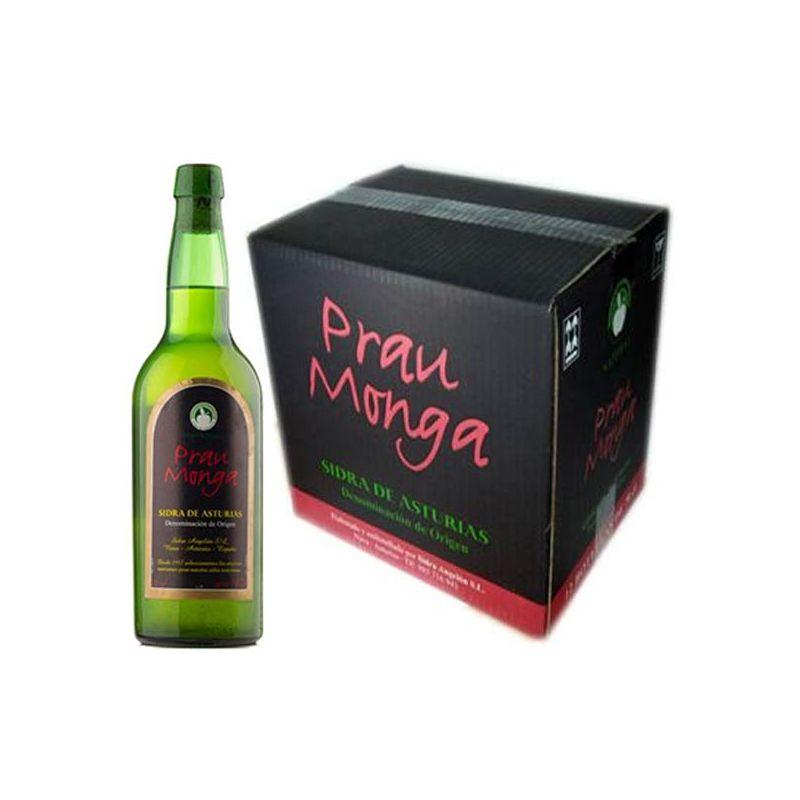 Caja 6 botellas sidra natural Prau Monga - Viuda Angelón D.O.P.