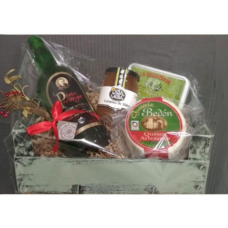 Cesta Navidad 0046 - Regala Productos Asturianos en Navidad