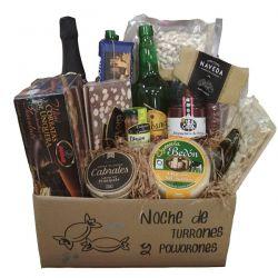 Cesta Navidad Gourmet Sidra y quesos Asturianos