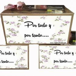 Caja Gourmet Con Frase de Gracias - Productos Asturianos