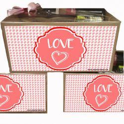 Caja para Cesta Gourmet dia San Valentin