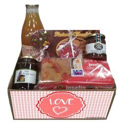 Cesta Gourmet San Valentin Desayuno Variado