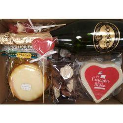 Cesta San Valentin Dia de Los Enamorados -Productos Asturianos