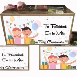 Caja Regalo con Frase de Cumpleaños - Gourmet