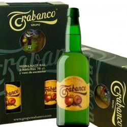 Estuche Sidra Trabanco - Dos botellas Trabanco y un vaso sidra