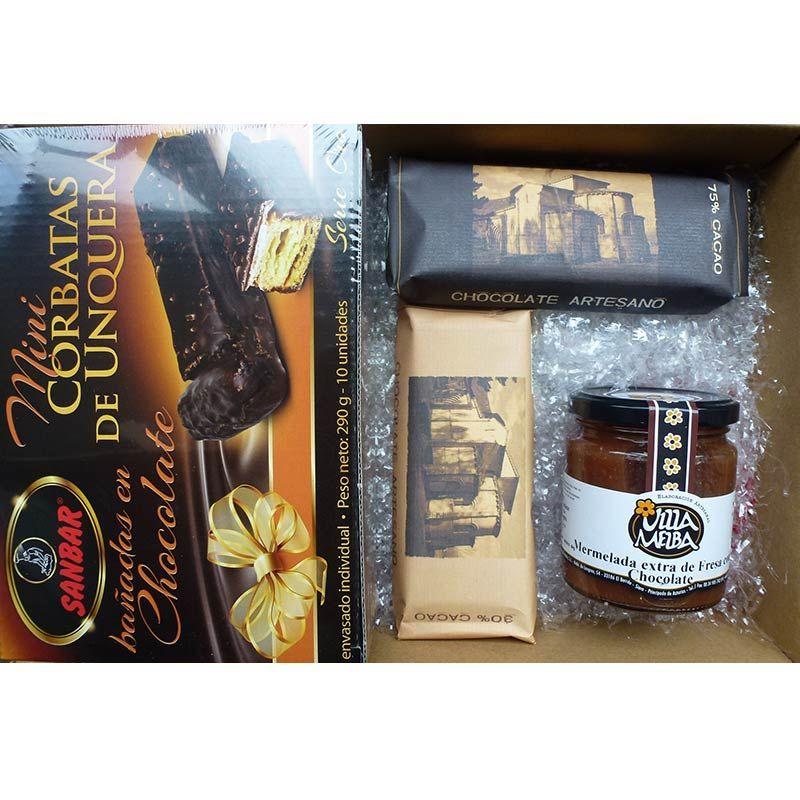 Cesta Regalo Desayuna Con Chocolate - Cesta Navidad