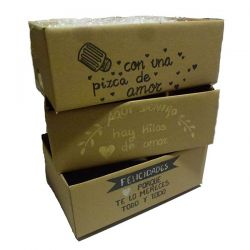 Cajas de Carton Con Frase Personalizada - Regalos Productos Asturianos