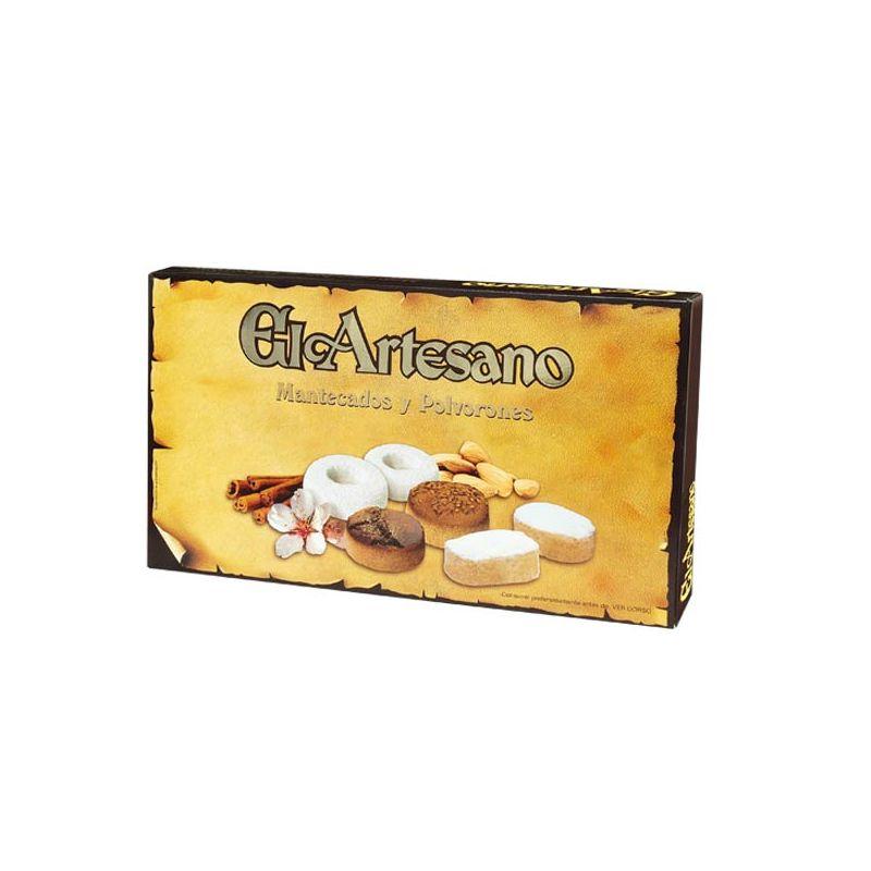 Comprar caja de polvorones y mantecados El Artesano, Asturias.